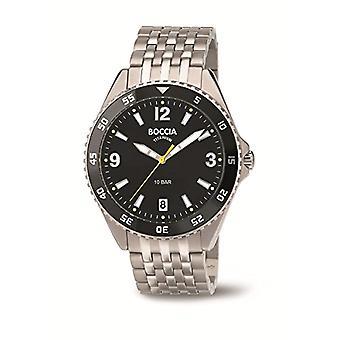 Boccia Titanium bracelet quartz men's digital watch 3599-03