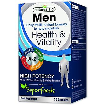 Nature's Aid Men Multi-Vitamins & Minerals (com Superalimentos) Cápsulas 30 (137310)