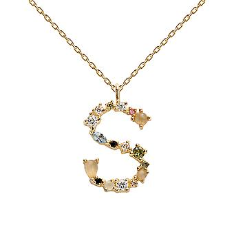 Pdpaola Women's Letter S Plated Necklace