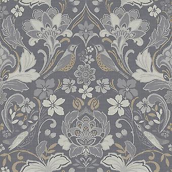 Lidové květinové tapety Grey Arthouse 676003