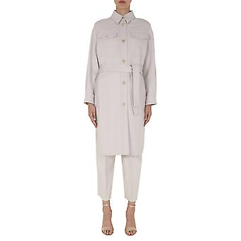 Brunello Cucinelli Me4179480pc518 Women's White Wool Coat
