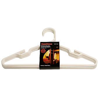 SupaHome Plastic Coat Hangers (Pack Of 5)