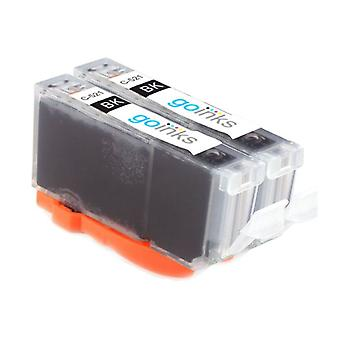 2 Black Ink Cartridges to replace Canon CLI-521Bk Compatible/non-OEM from Go Inks