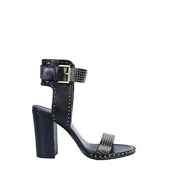 Ash Lisa01 Kvinnor & s svart läder sandaler
