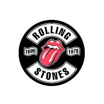 Il Rolling Stones Back Patch Tour 1978 nuova cucitura nera ufficiale su 36cm x 29cm