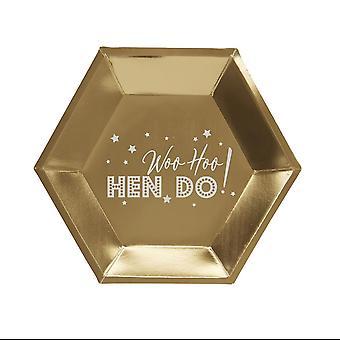 Woo Hoo Hen Do - Paper Plate - 8 Pack