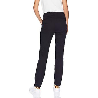 Essentials Women's Straight-Fit Stretch Twill Chino, Black, Size 16.0