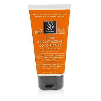 Apivita Shine & revitaliserande balsam med apelsin & honung (för alla hårtyper) 150ml/5.29 oz
