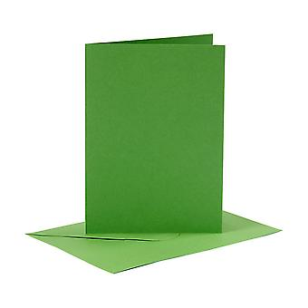 6 Green A6 Cards and Envelopes for Card Making Crafts | Card Making Blanks