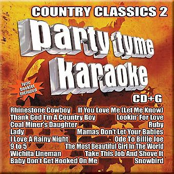 Party Tyme Karaoke - Party Tyme Karaoke: Vol. 2-Country Classics [CD] USA import