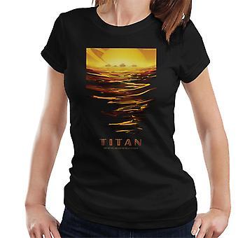 NASA Titan Interplanetary Travel Poster Women's T-Shirt