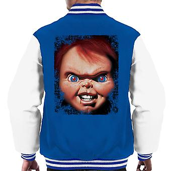 Chucky Face Close Up Men's Varsity Jacket