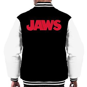 Jaws Text Logo Men's Varsity Jacket