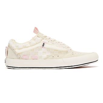 Vans Old Skool Cap Chenille Check Womens White Trainers