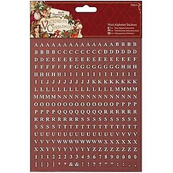 Papermania Victorian Christmas Mini Alpha Stickers 306/pkg-