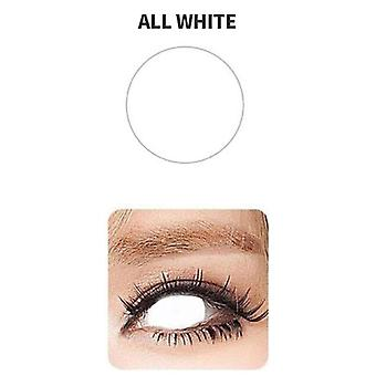 All White Color Cover Pupil Blind Contact Lenses Pure Colored Halloween Cosplay For Eyes Makeup Path
