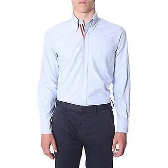 Thom Browne Mwl010e00139480 Men's Light Blue Cotton Shirt