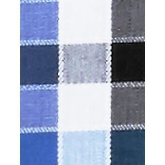 BUTTONED DOWN Männer's Fitted Supima Baumwolle Spread-Collar Muster, blau/schwarz Ch...