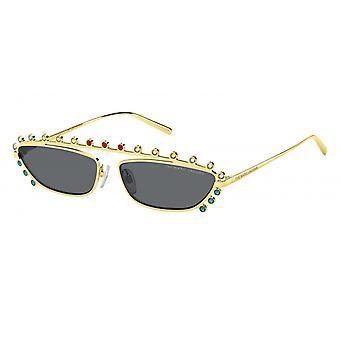Sunglasses women for gold/black colored stones
