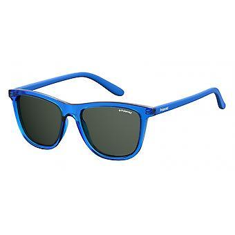 نظارات شمسية Unisex 8027/Spjp/M9 الأزرق مع زجاج رمادي