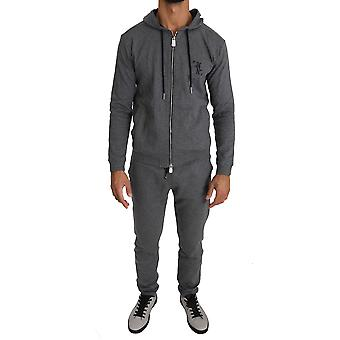 Gray cotton sweater pants trac89962071