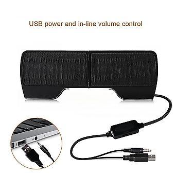 1 זוג מיני נייד קליפ על USB רמקולים סטריאו רמקולים קו בקר Soundbar