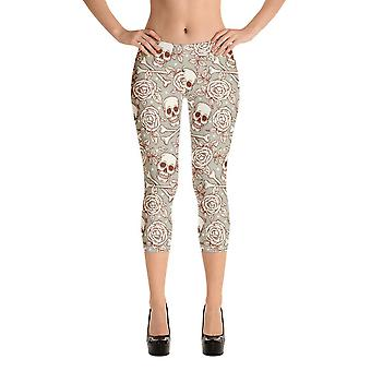 Moda capri leggings | teschi e rose