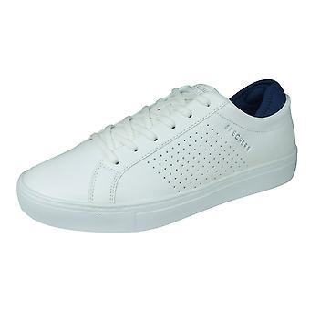 Skechers Side Street EXI heren casual lederen trainers/schoenen-wit