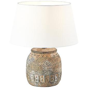 Lâmpada de mesa amadora brilhante luzes interiores brancas/marrons, luzes de mesa,-decorativas | 1x A60, E27, 40W, adequado para lâmpadas normais