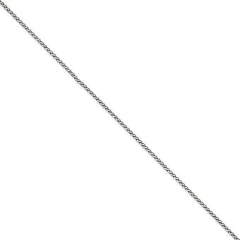 14k White Gold Solid Lobster Claw Closure 1.9mm Round Sparkle Cut Wheat Chain Ankle Bracelet Jewelry Gifts for Women - L