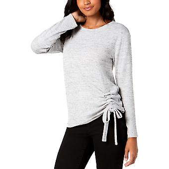 INC | Ruched Long Sleeves Pullover Sweater