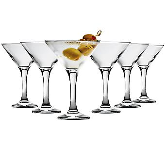 Rink Drink 6 Piece Martini Cocktail Glasses Set - Classic Style Party Drinking Barware - 175ml