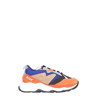 Msgm 2740ms208660288 Mænd's Flerfarvet læder sneakers