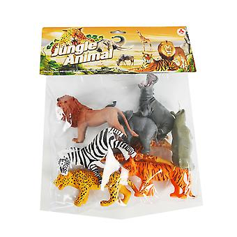 6pc. Toy Jungle Animals in Bag