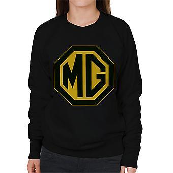 MG Musta ja kultainen logo British Motor Heritage Women's Collegepaita