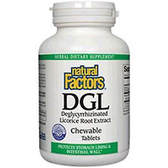 العوامل الطبيعية DGL-Deglycyrrhizinated استخراج جذور عرق السوس، 400 ملغ، 180 أقراص للمضغ