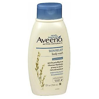 Aveeno Active Naturals Skin Relief Body Wash, Fragrance Free 12 oz