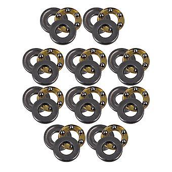 10 x acero de plata precisa F4-9M rodillo empuje rodamientos de bolas con 3 piezas