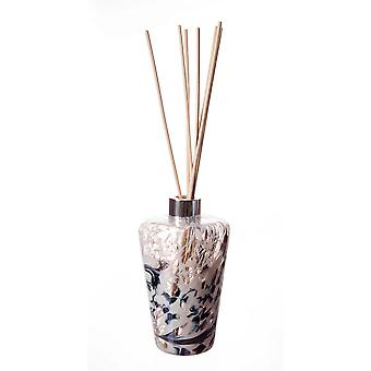 Kužeľový reed difúzor biela a sivá matný amelia umelecké sklo