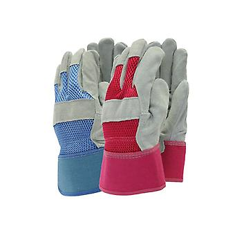 Town & Country TGL106M Navy/Red Rigger Gloves Ladies - Medium T/CTGL106M