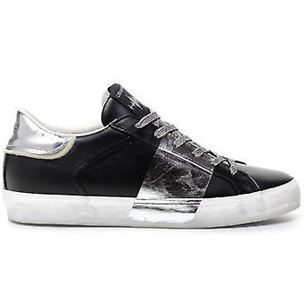 Crime London Fekete és Ezüst Bajba jutott Sneaker