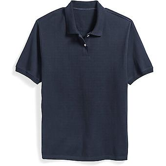 Essentials Men& apos;s Big & Tall Cotton Pique Polo Shirt fit by DXL, Navy, 4X