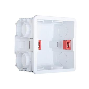 3x3 Single Wall Plate Mounting Box For Uk Eu Switch Socket, Universal Junction