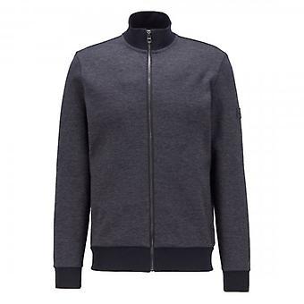 Hugo Boss Shepherd 33 Zip Up Sweatshirt Navy 50437825