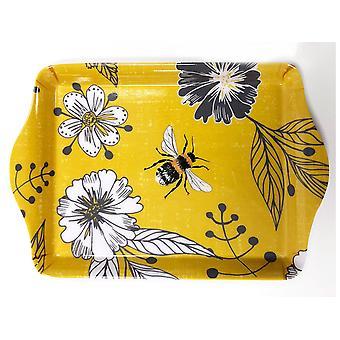 Home Living Mini Trinket Tray Bumblebee Yellow HH2329