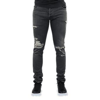 Balmain  POCKETS SLIM JEAN DESTROY LO Grey TH15230Z0389AA Pants