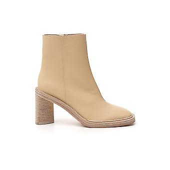 Acne Studios Ad0221ecru Femmes-apos;s Beige Leather Ankle Boots