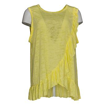 DG2 por Diane Gilman Women's Plus Top Yellow Tank Polyester 713-394