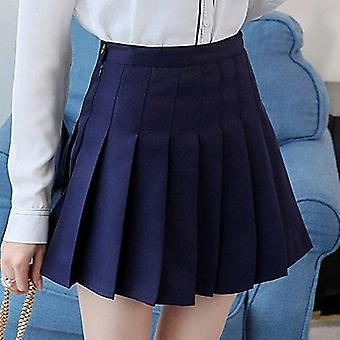 High Waist Skirt School Student Short Dresses Pleated Tennis With Inner Lady