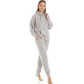 Camille Kvinder Grå Hacci Pyjama Sæt